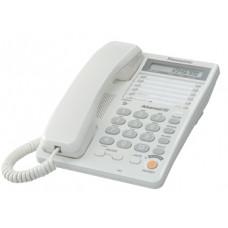 Проводной телефон KX-TS2365RU, ЖКД, спикерфон, белый