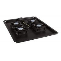 Модуль вентиляторный потолочный с 4-я вентиляторами для шкафов TTC. Hyperline TFAT-TC800-4-RAL9004