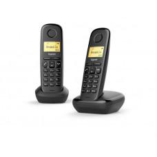 Радиотелефон DECT Gigaset A170 DUO, черный