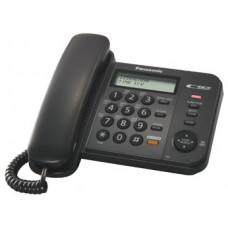 Проводной телефон KX-TS2358RU, ЖКД, спикерфон, СID, АОН, черный