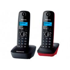 Радиотелефон DECT Panasonic KX-TG1612RU, серый/красный