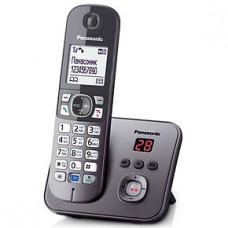 Радиотелефон DECT Panasonic KX-TG6821RU, серый металлик