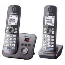 Радиотелефон DECT Panasonic KX-TG6822RU, серый металлик