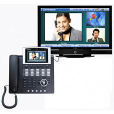 Видео телефон - 4,3'' Touch screen, 25 программируемых клавиш, индикаторы присутствия, 1FXO, 2x10/10