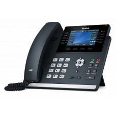 SIP телефон Yealink SIP-T46U, цветной экран, 2 порта USB, 16 аккаунтов, BLF, PoE, GigE, без БП