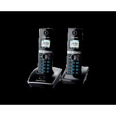 Радиотелефон DECT Panasonic KX-TG8052RU, 2 трубки, черный