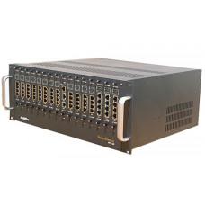 VoIP шлюз VoiceFinder AP3100P, 15 слотов под модули серии AP3100 ,1X10/100,1x10Mbps, Dual PSU