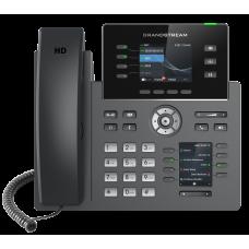 IP телефон GRP2614, 4 SIP аккаунта, 4 линии, 2 цветных LCD, PoE, 1Gb порт, 8 BLF, Wi-Fi, Bluetooth