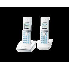 Радиотелефон DECT Panasonic KX-TG8052RU, 2 трубки, белый
