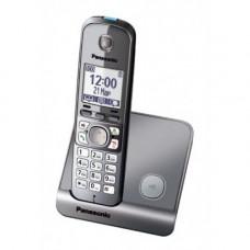 Радиотелефон DECT Panasonic KX-TG6711RU, серый металлик