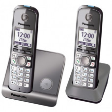 Радиотелефон DECT Panasonic KX-TG6712RU, серый металлик