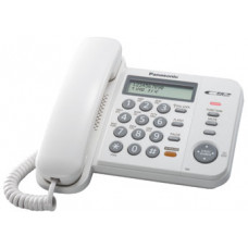Проводной телефон KX-TS2358RU, ЖКД, спикерфон, СID, АОН, белый