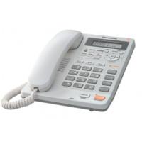 Проводной телефон KX-TS2570RU, ЖКД, спикерфон, белый