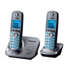 Радиотелефон DECT Panasonic KX-TG6612RU с доп. трубкой, серый