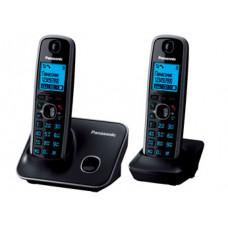 Радиотелефон DECT Panasonic KX-TG6612RU с доп. трубкой, черный