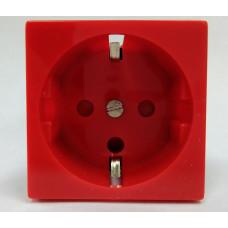 Розетка электрическая с заземляющим контактом двойная под углом 45 гр. (белый)