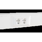 Суппорт с рамкой на 2 поста (45х45) в профиль для кабель-канала 100х50, аналог Legrand 30397